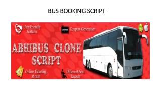 Online Bus Booking Script