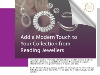 Add a Modern Touch to Your Collection from Reading Jewellers