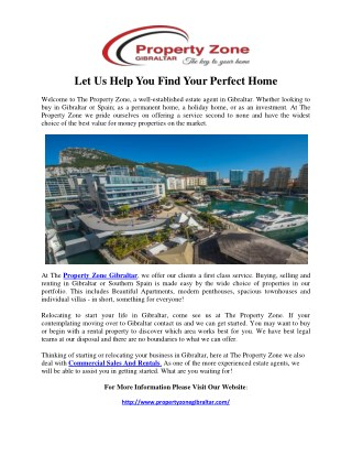 Let Us Help You Find Your Perfect Home