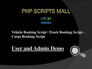 Truck Booking Script - Cargo Booking Script
