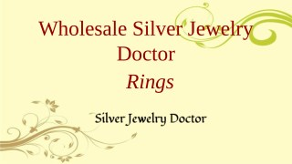 Leading Wholesale Sterling Silver Ring Manufacturer