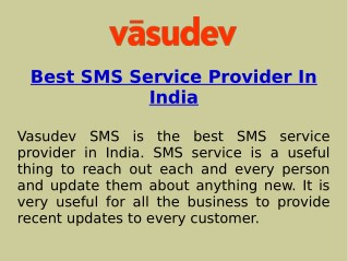 Best Bulk SMS and Transactional SMS Services In India