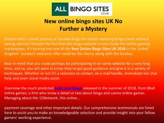 New online bingo sites UK No Further a Mystery