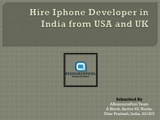 Hire Iphone App Developer India - AResourcePool