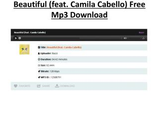 Beautiful Feat Camila Cabello Free Mp3 Download