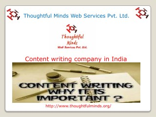 Content Writing Company in India   Thoughtfulminds