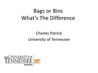 Bags or Bins What's The Difference