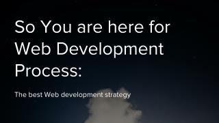 contact web development services Company in India