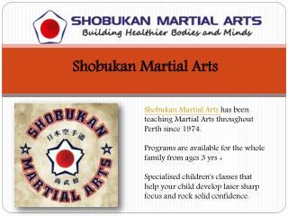 Shobukan Martial Arts Perth Australia