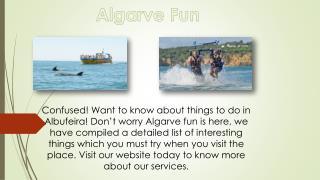Top Best Things to do in Albufeira | Algarve Fun.