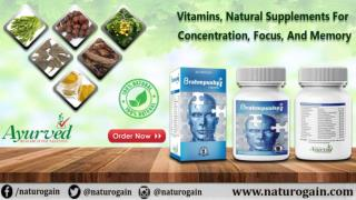Vitamins, Natural Supplements for Concentration, Focus, and Memory