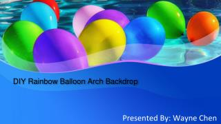DIY Rainbow Balloon Arch Backdrop - Party Zealot