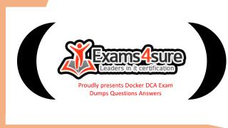 Docker DCA Braindumps Questions Answers