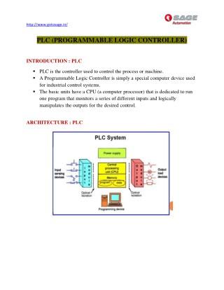 PPT - PLC training Aurangabad PowerPoint Presentation - ID