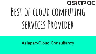 Best of cloud computing services provider