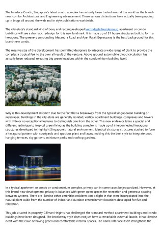 The Interlace Apartment - Living Green in Singapore
