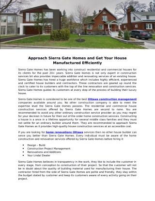 Sierra Gate Homes