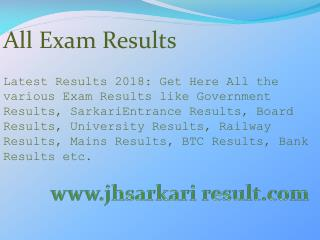 All Exam Results