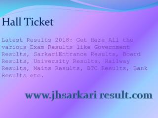 Hall Ticket