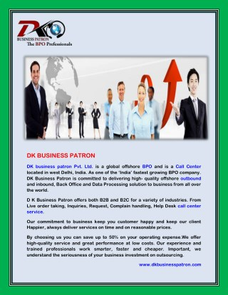Call Center Service Provider in USA | India @ DK Business Patron