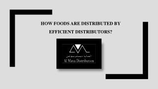 Food Distribution Companies In UAE