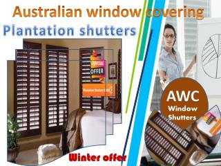 Plantation shutters winter offer