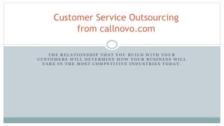 Customer Service Outsourcing from callnovo.com