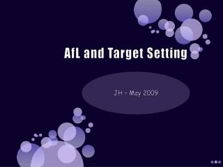 AfL  and Target Setting