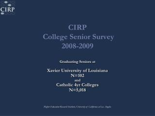 College Senior Survey 2008-09