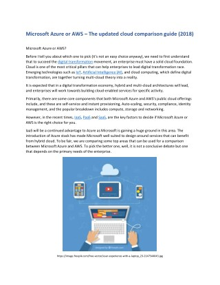 Microsoft Azure or AWS – The updated cloud comparison guide (2018)
