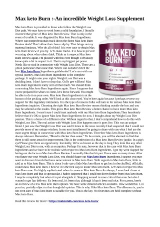 Max keto Burn- (Beware)Burn Fat, Side Effects