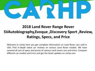 Land Rover Car Reviews