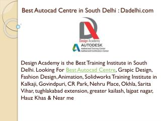 Best Autocad Centre in South Delhi