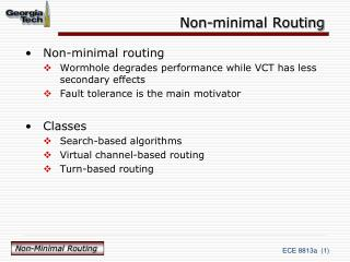 Non-minimal Routing