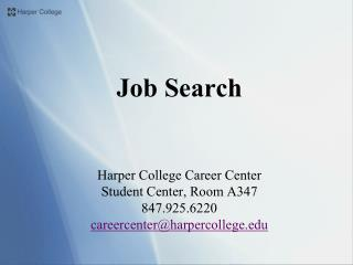 Job Search Harper College Career Center