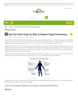Sex Power Foods for Male