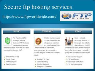 Secure FTP Hosting for Business