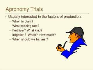 Agronomy Trials