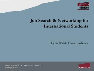Job Search & Networking for International Students