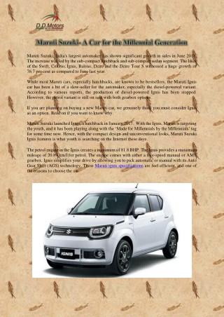 Maruti Suzuki- A Car for the Millennial Generation