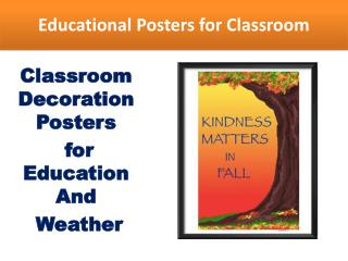 Different types of educational posters for classroom
