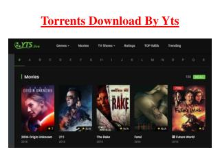 TV Shows Online By YTS