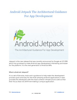 Android Jetpack The Architectural Guidance For App Development
