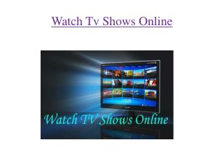 Watch Tv Shows Online By YTS