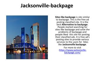 Jacksonville-backpage Site similar to backpage  Alternative to backpage  Sites like backpage