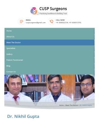 Dr. Nikhil Gupta - GI Oncosurgery and Liver Transplant | CUSP Surgeons