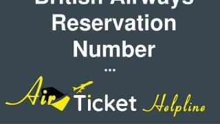 British Airways Reservation Number