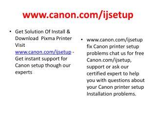 Canin Ijsetup, www.canon.com/ijsetup