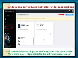How does one can activate their Bitdefender subscription?