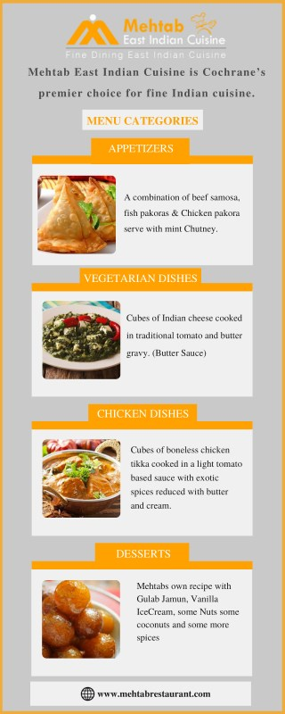 Finest Indian Cuisine Restaurant in Cochrane